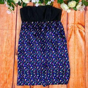 NWT Shoshanna Geo Print Strapless Mini Dress 1566